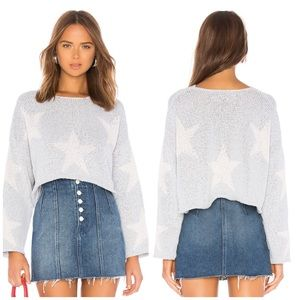 NWT Wildfox Cropped Star Sweater